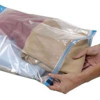 Saco para roupas zip lock de plástico